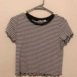 Heart and Hips Black and White Striped Shirt